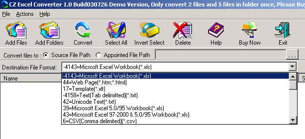 Convert Excel xls/xlsx to PDF, PNG, JPEG, TIFF, XLS, XML and much more