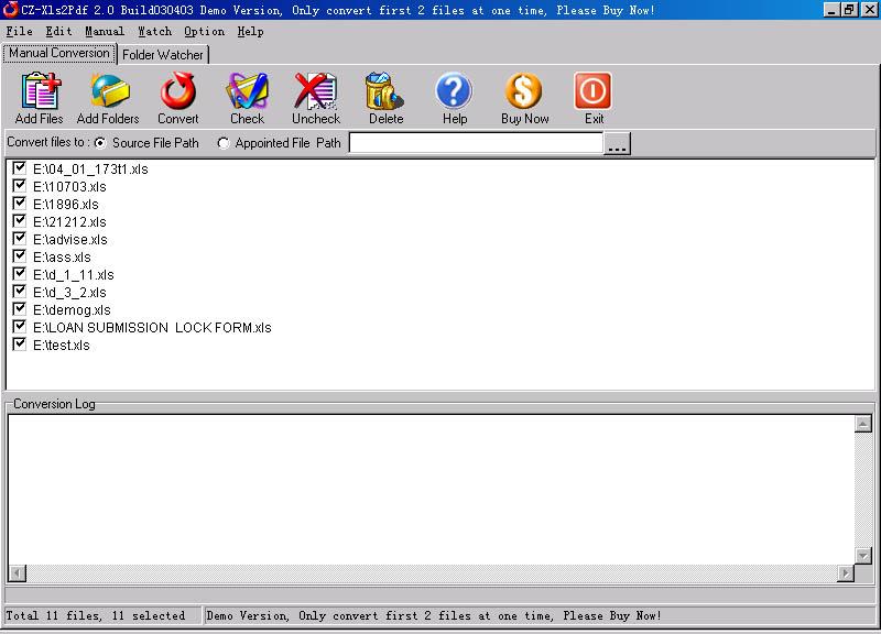 CZ-Xls2Pdf screenshot